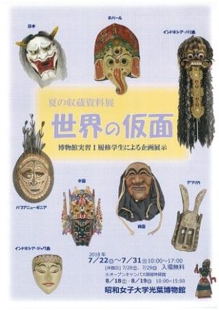 夏の収蔵資料展 ~世界の仮面~