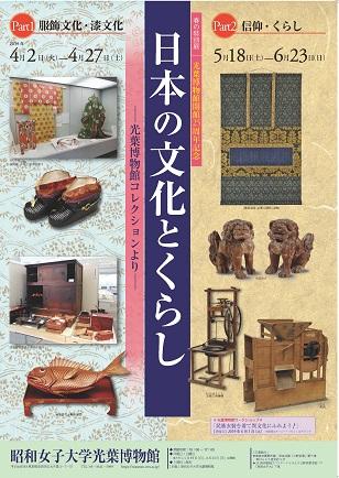 春の特別展「光葉博物館開館25周年記念  日本の文化とくらし ―光葉博物館コレクションより―」Part2